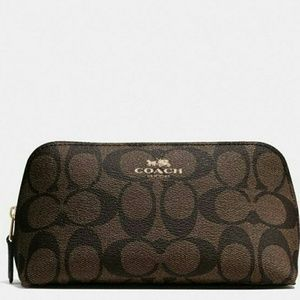 🌷[NEW]●COACH Cosmetic Bag In Signature Canvas🌷🌷